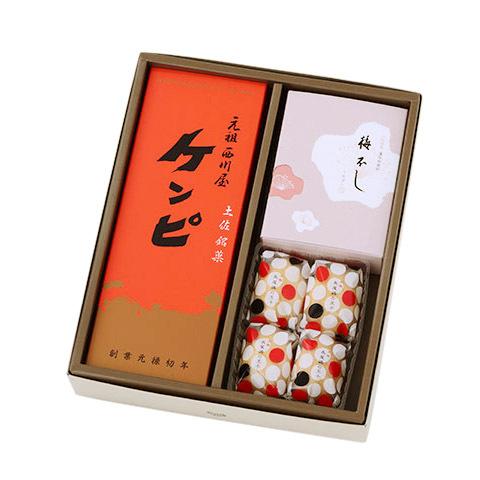 画像1: 土佐銘菓抄 元祖ケンピ5袋(またはケンピバラエティ5袋)、長尾鶏の玉子4個、梅不し6個